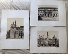 QUINET ACHILLE 3 PHOTOS DE PARIS L'HOTEL DE VILLE