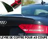 SPOILER BECQUET LEVRE LAME COFFRE pour AUDI A5 COUPE 8T3 12-17 S5 SLINE QUATTRO
