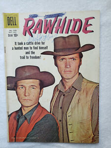 Rawhide (Four Color #1028, [#1]) - 1959, Dell [VG 4.0] SIGNED by Sheb Wooley