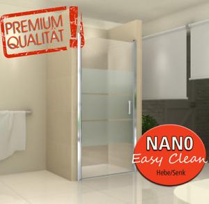 Duschabtrennung Dusche Duschtür  100x200 STREIFEN + NANO Türanschlag DIN-RECHTS