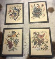 "Antique Vintage Lot of 4 ARTHER SINGER PRINTS! No's 1, 2,7 & 8 w/ Frames 10""x13"""