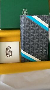 Goyard Wallet Card Holder St. Roch Gray Custom Monogram 1/5 (Passport/Checkbook)