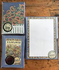 New Sunflower Stationery Set Card + Sheets + Note Cards + Envelopes Vintage NOS