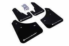 Rally Armor Black Mud Flap w/ White Logo For 04-09 Mazda3 / MazdaSpeed3
