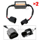 Pair H13 LED Headlight Canbus Error Free Anti Flicker Resistor Canceller Decoder