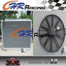 "Aluminum Radiator & 16"" Fan for TOYOTA SURF HILUX 2.4/2.0 LN130 AT/MT"