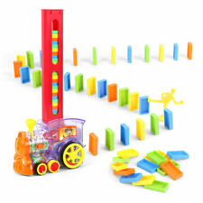 80Pcs Dominoes Blocks Set Electric Train Game Automatic Car Model Stacking Toys
