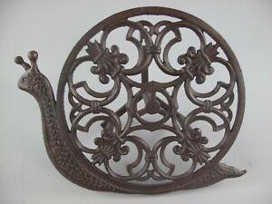 Garden Water Hose Holder Snail Iron Antique