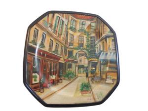 TamSan Designs Decorative Handpainted ceramic plate Fide Villemeuve city