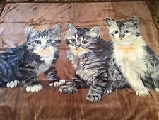 Cover Bedspread for Sofa Camping Vacation + Bath, Kittens