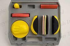 Mano frotamiento Kit Bloque De Lijado Lijadora de agarre de Bucle Gancho 150 mm da Disco Papel de lija