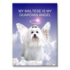 MALTESE Guardian Angel FRIDGE MAGNET New DOG Pet Loss