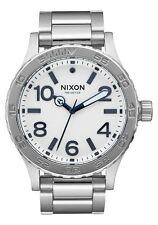 Nixon Original 46 A916-2450 Silver / White Sunray Dial 46mm Watch