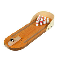 Wooden Bowling Game Classic Tabletop Bowling Toy Desk Board Games YLM