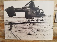 Large Vintage Vietnam Photo of Hh-43B Laying Cable - Rare Find - Great Condition