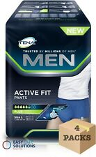 TENA MEN ACTIVE FIT PLUS Pantaloni (grande) - 4 confezioni da 8 (totale 32 Pantaloni)