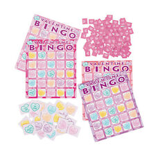 Valentine's Day CONVERSATION HEARTS Bingo Game BIRTHDAY Party Favors 16 players