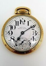 Open Face Pocket Watch 10k Gf Hamilton 23 Jewel Railway Special Model 950B