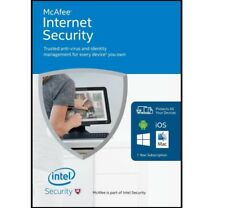 Genuine McAfee Internet Security Anti-Virus Software