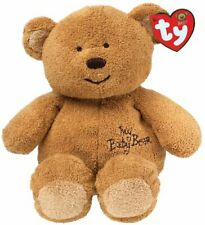 """MY BABY BEAR BROWN - BABY TY / TY PLUFFIES - MWMT New 10"""" 25cm Rare"""
