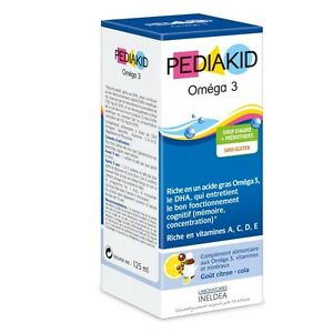 Pediakid Omega 3 Syrup Rich in DHA critical to brain function 125ml
