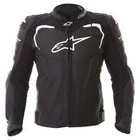 Alpinestars GP Pro Leather Sport Motorcycle / Motorbike Jacket - Black / White