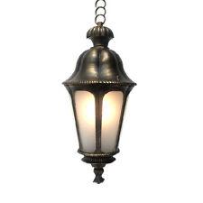 Outdoor Exterior Hanging Porch Light Pendant Lantern Fixture Frost Glass