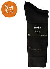 Mens 2 Pair Hugo Boss Plain 75 Cotton Socks 5.5 - 8 Mens Dark Brown