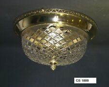 FLUSH BOWL LIGHT FITTING WITH MOULDED CRYSTAL GLASS BOWL