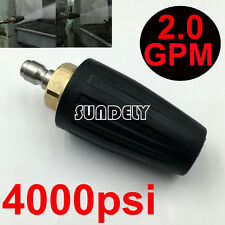 """4000PSI Pressure Washer Black Rotating Turbo Nozzle With 1/4"""" Quick Plug 2.0 GPM"""