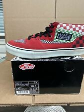 Pre-owned 2006 Supreme New York Vans Half Cab sz 10.5 Red/Multi