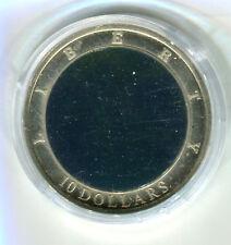 10 dollars liberia 2002 holograma Liberty estatua de la libertad m_241 EE. UU.