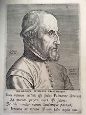 Théodore Poelmann gravure de Philippe Galle (1537-1612) école flamande 1572