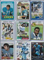 Detroit Lions Vintage Lot (35) Different w/ Rookies Sims Hipple Baker Danielson