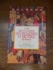Dournon: Mini-encyclopédie des proverbes et dictons de France/ France Loisirs
