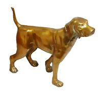 Golden Dog Figurine Handmade Brass Figure Statue Sculpture Table Home Decor Gift