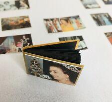 Dollhouse Miniatures 1980s Queen Elizabeth Photo Album & Pictures Royalty