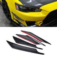 Carbon Fiber Glossy Car Bumper Fin Canard Splitter Diffuser Valence Spoiler Lip