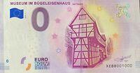 BILLET 0  EURO MUSEUM IM BUGELEISENHAUS HATTIGEN ALLEMAGNE 2018  NUMERO 1000