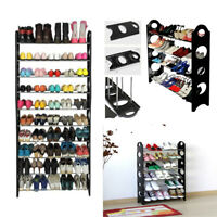Shoe Rack Organizer Shelf Stand Wall Closet Cabinet Storage Holder 4/6/10 Tier