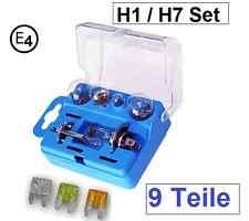 H1 H7  Lampenbox KFZ Glühlampen+Sicherungen Set PKW Ersatzlampen Autolampe 9tlg