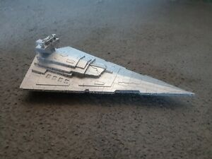 Star Wars Imperial Star Destroyer Model Chrome Silver 13cm x 24cm