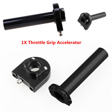 Black Aluminum Alloy Rotatable7/8'' 22mm Motorcycle Throttle Grip Accelerator