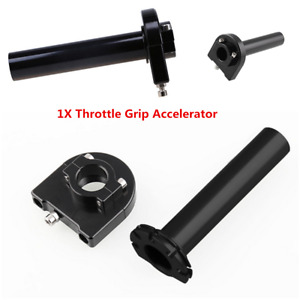 Black Aluminum Alloy Rotatable7/8'' 22mm Motorcycle Throttle Accelerator