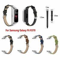 Für Samsung Galaxy Fit R370 Smartwatch Weiches Leder Armband Ersatz Uhr Strap