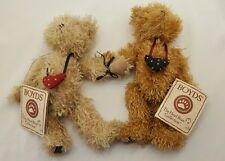 Boyds Bear Friendship Bears Connected 2 Bears Head Bean Collection w Tags #50009