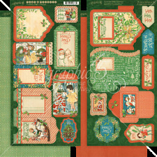 Graphic 45 CHRISTMAS MAGIC Collection~Tags/Pockets 2 sheets~So nice! Quick Ship!
