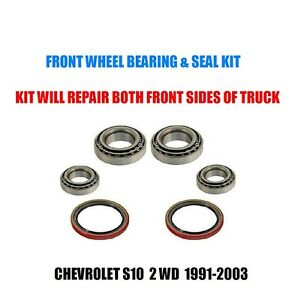 Chevrolet S10 Pickup 2WD Front Wheel Bearing & Seal Kit 1991-2003