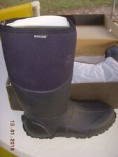 NIB MEN'S BOGS ALL WEATHER BLACK BOOTS SIZE 12 - RATED -40 DEGREES - NEW IN BOX