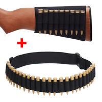 Buttstock Shell 9 Cartridges Ammo Holder Rifle Gun Bullet+.410 .308 Rifle belt